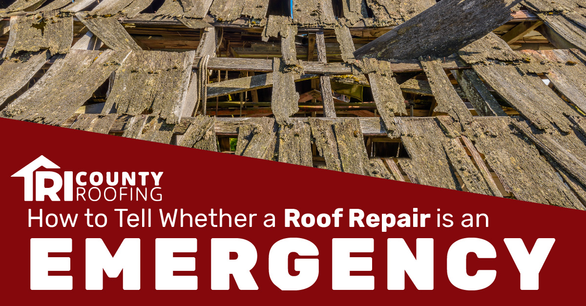 How to Tell Whether a Roof Repair is an Emergency